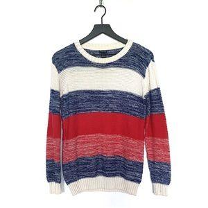 Forever21 • Red, White & Blue Block Stripe Sweater